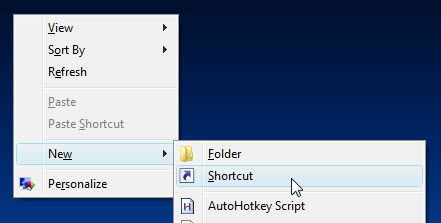 Create shutdown icon on Desktop