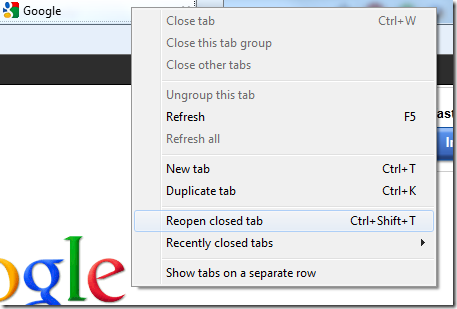 Reopen Tabs In Browsers