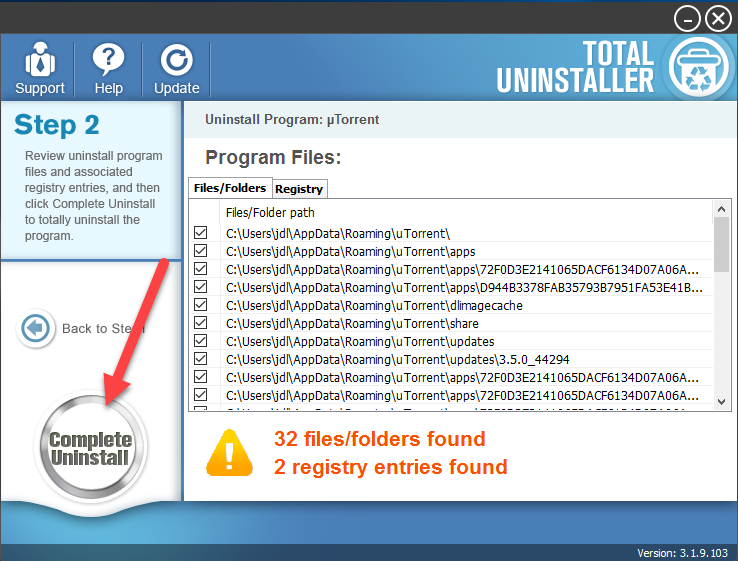 completely_uninstall_µTorrent
