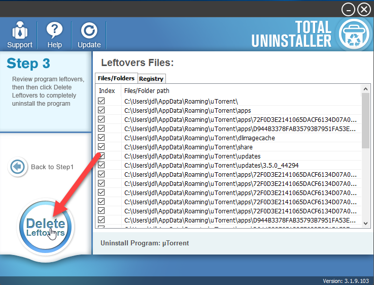 delete_uTorrent_leftover