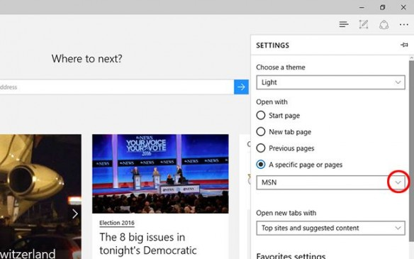 Set Homepage on Microsoft Edge